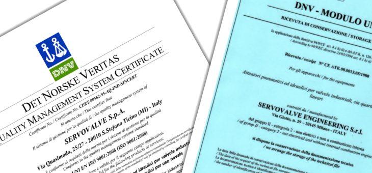 意大利Servovalve质量保证和认证